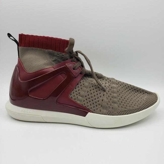 Bally Gray Men's Elastic Fabric Sock Sneaker with Leather/Rubber Back Us 10d Shoes Bally Gray Men's Elastic Fabric Sock Sneaker with Leather/Rubber Back Us 10d Shoes Image 7