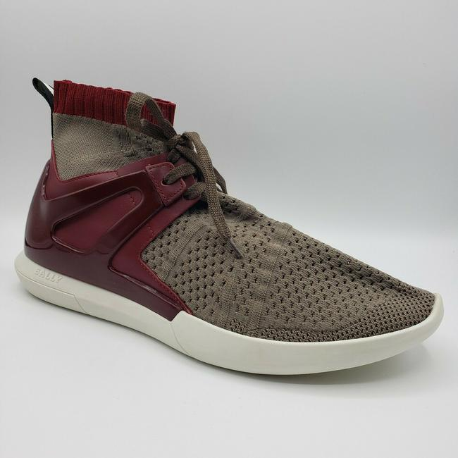 Item - Gray Men's Elastic Fabric Sock Sneaker with Leather/Rubber Back Us 12d Shoes