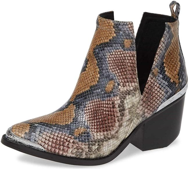 Item - Grey Whiskey Snake Multi Cromwell Cutout Leather Western Boots/Booties Size US 11 Regular (M, B)