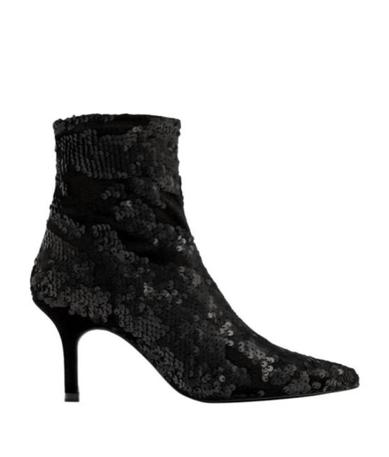 Item - Black Séquence and Velvet Boots/Booties Size EU 42 (Approx. US 12) Narrow (Aa, N)