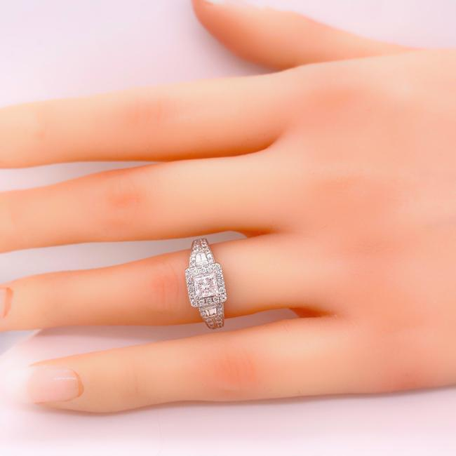 Item - White Gold Princess Diamond 1.50 Tcw In 14kt Engagement Ring