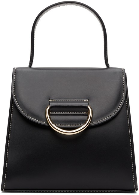 Item - Lady Black Calfskin Leather Shoulder Bag