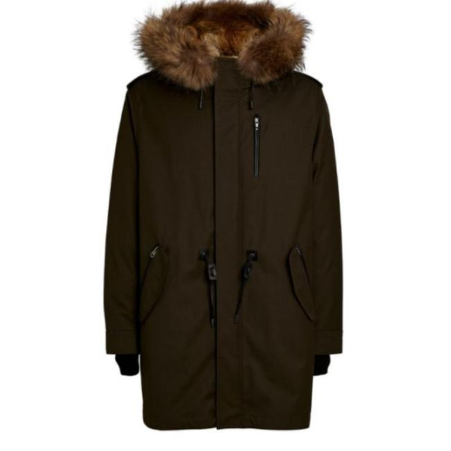Item - Army Men's Moritz Down Parka with Removable Natural Trim Coat Size OS (one size)