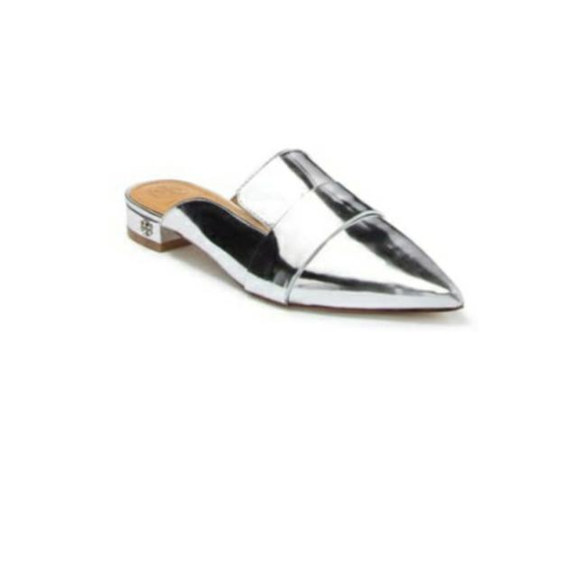 Item - Silver Rosalind 20mm Mule Sandals Size US 6.5 Regular (M, B)