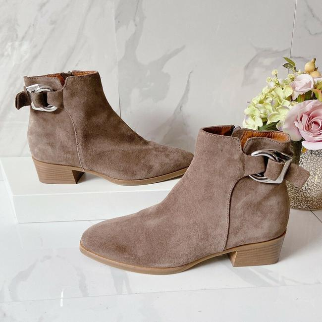 Item - Taupe Tan Faria Waterproof Heel Ankle Zipper Suede Boots/Booties Size US 6.5 Regular (M, B)