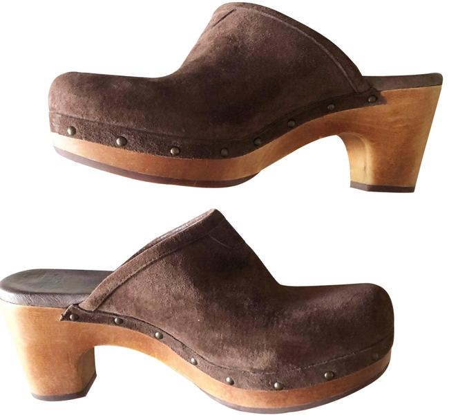 Item - Brown Abbie Suede Sheepskin Sz.6 Mules/Slides Size US 6 Regular (M, B)