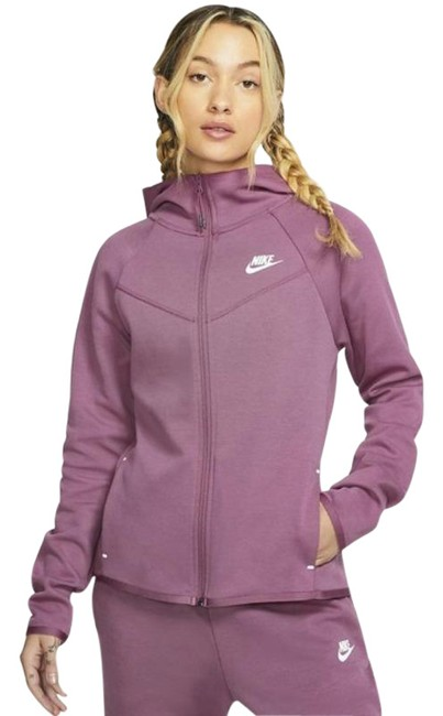 Item - Purple Blush Pink Long Sleeve Zip Up Sweater Activewear Outerwear Size 4 (S)