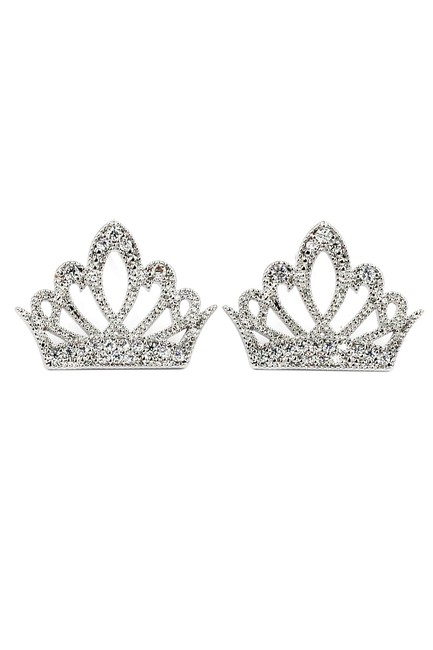 Item - Silver Nestle Ear Crown Crystal Earrings