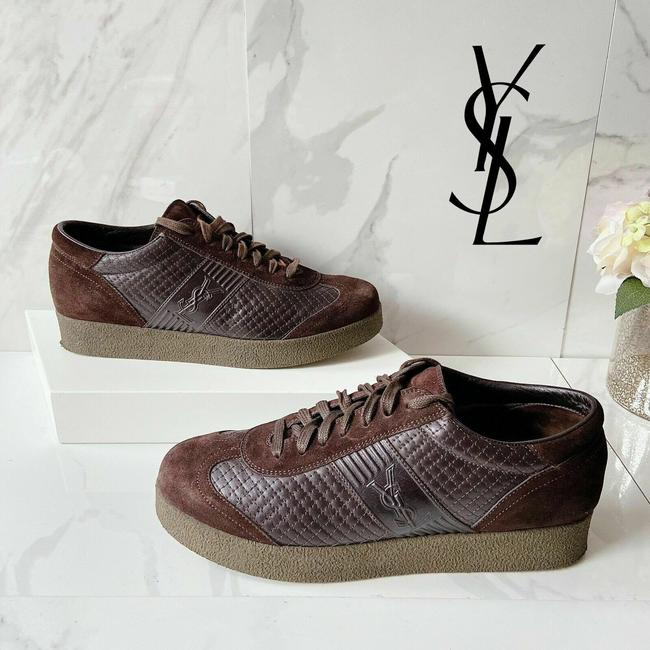 Item - Brown Ysl Logo Athletic Size US 8.5 Regular (M, B)
