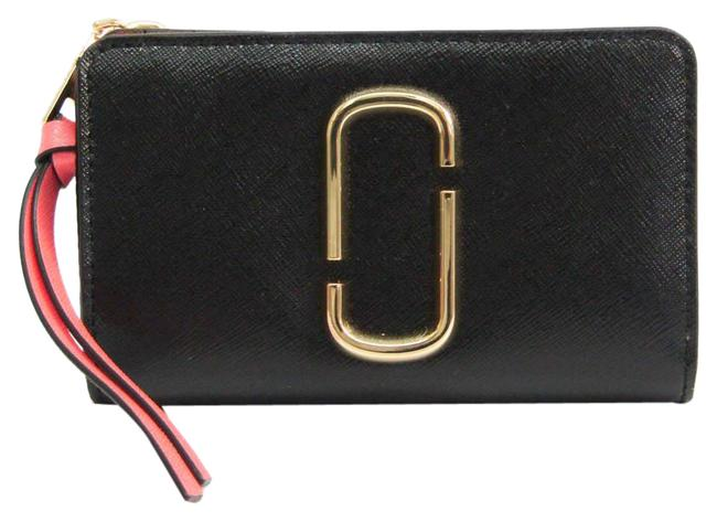Item - Black / Light Pink / Pink Snapshot Snapshot M0013356 Women's Coated Leather Middle (Bi-fold) Wallet