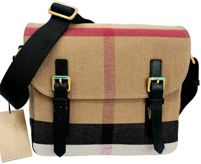 Item - Camera Checkbaildon Black/Check Canvas Messenger Bag