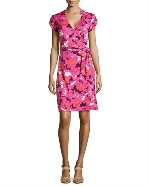 Item - Pink Floral Print Jilda Two Short Casual Dress Size 4 (S)