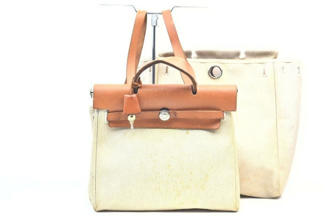 Item - Herbag Sac A Dos 2 In 1 862794 Light Brown Coated Canvas Backpack
