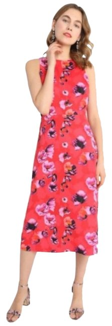 Item - Red Back Serena Floral Mid-length Work/Office Dress Size 2 (XS)
