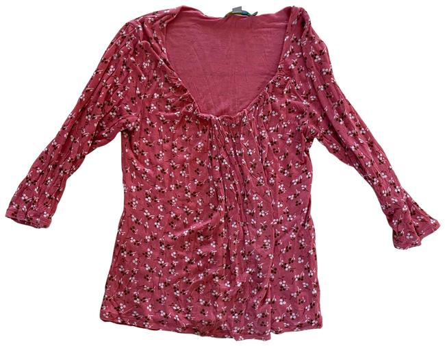 Item - Pink Floral Lyocell Blouse Size 10 (M)