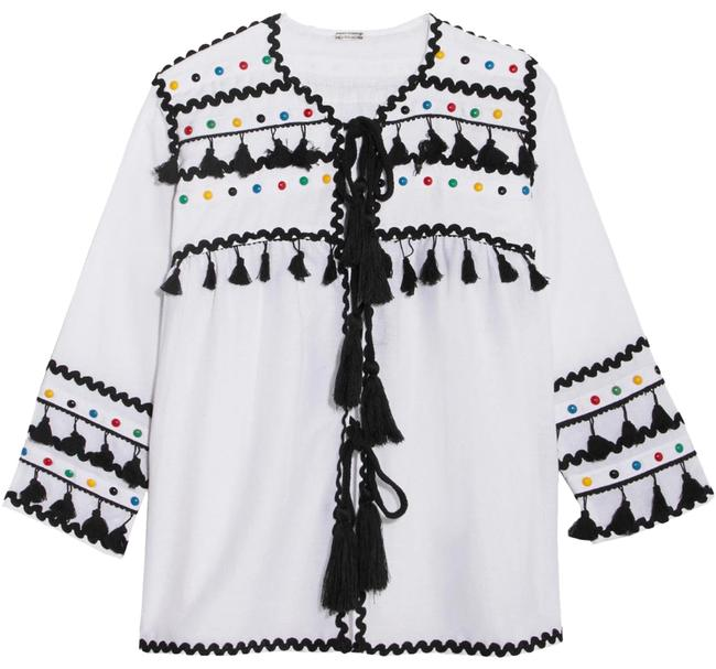 Item - Yehuda Tassel Studded Embroidered Cardigan Size 6 (S)