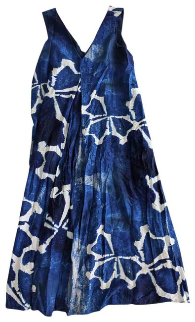 Item - Blue & White Long Casual Maxi Dress Size 16 (XL, Plus 0x)