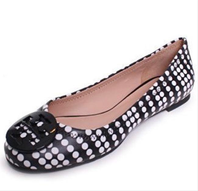 Item - Black and Nude Reva Polkadot Flats Size US 7.5 Regular (M, B)