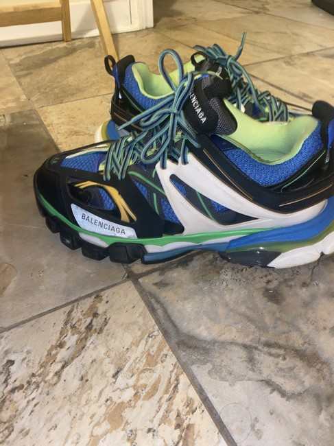 Item - Blue Green Track Sneakers Size EU 44 (Approx. US 14) Wide (C, D)