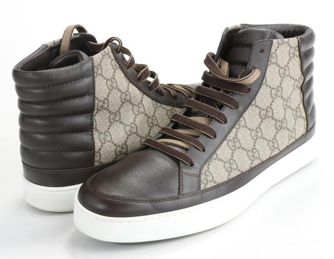 Item - Brown Gg Supreme High Top Sneakers Shoes