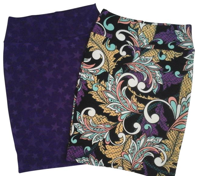 Item - Purple Multi Cassie Pencil Bundle Lot Of 2 Make Me An Offer I Can't Refuse Skirt Size 10 (M, 31)