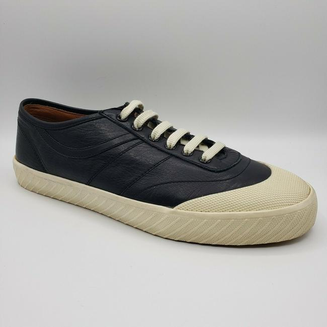 Item - Black Leather Lace Up Sneaker with Beige Rubber Sole Us 11.5d / 10.5 Eu Shoes