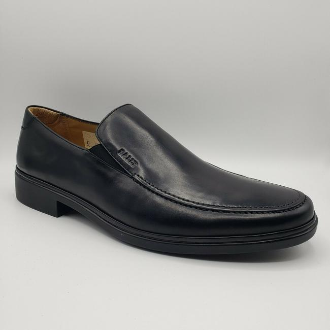 Item - Black W Smooth Leather Slip On Loafer W/Embossed Logo Us 11eee/10 Eu Shoes