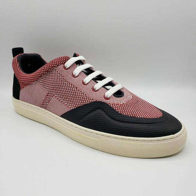 Item - Red/White W Red/White Woven Lace Up Sneaker W/Black Suede Back Us 11d/10 Eu Shoes