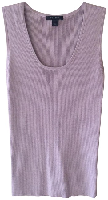 Item - Lilac Ribbed Scoop-neck Shell Tank Top/Cami Size 4 (S)