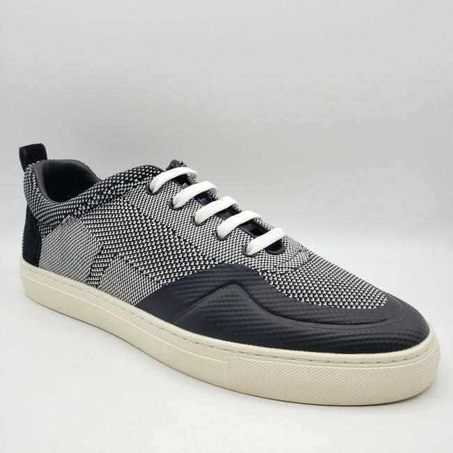 Item - Black/White Black/White Woven Lace Up Sneaker with Suede Us 11.5d / 10.5 Eu Shoes