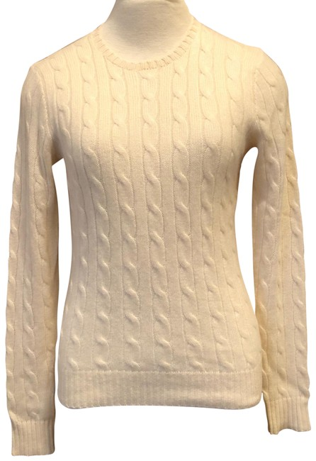 Item - Cable Knit Cashmere 211525818018 Ivory Cream Sweater