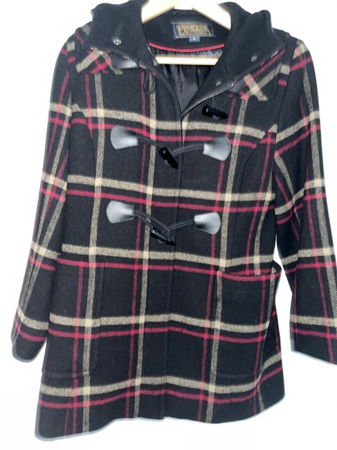 Item - Black Plaid P5064 Coat Size 6 (S)