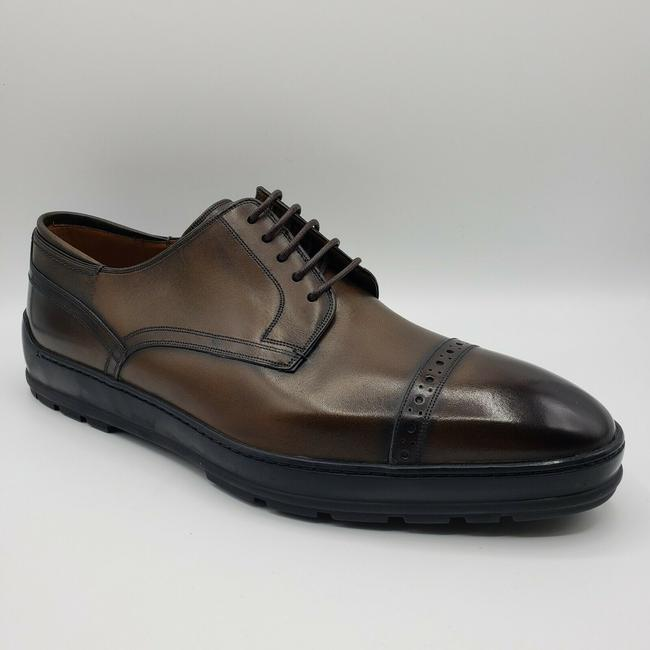 Item - Medium Brown Shades Leather Lace Up Oxford Dress Us 10d / 9 Eu Shoes