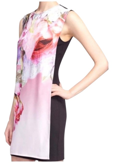 Item - Black Pink Milisa Pure Peonie Tunic Short Cocktail Dress Size 2 (XS)
