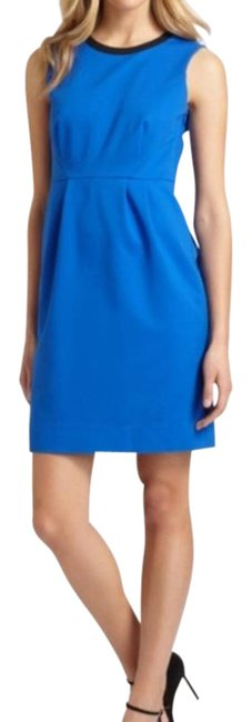 Item - Blue Black New York Arie Pop Of Color Short Casual Dress Size 6 (S)