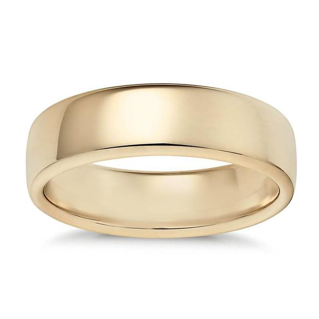 Item - Yellow Gold 4.2mm 14k Comfort Fit Ring Women's Wedding Band