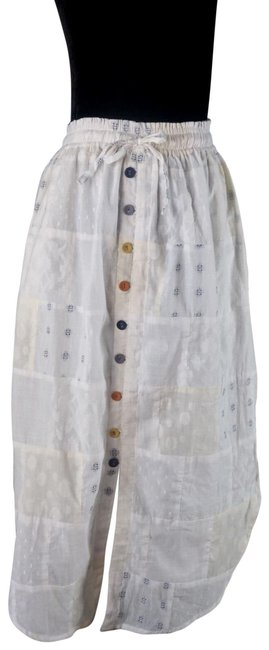 Item - White Odell's Madelyn Button New S Skirt Size 4 (S, 27)