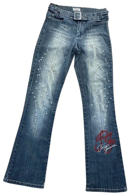 Item - Gray Distressed Vintage with An Attitude 1990s Wash Boot Cut Jeans Size 28 (4, S)