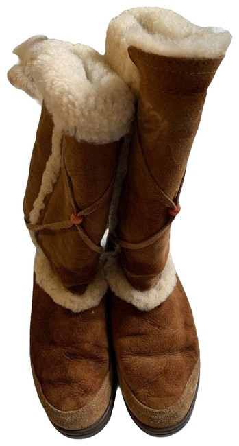 Item - Tan Sheepskin and Leather Boots/Booties Size US 10 Regular (M, B)