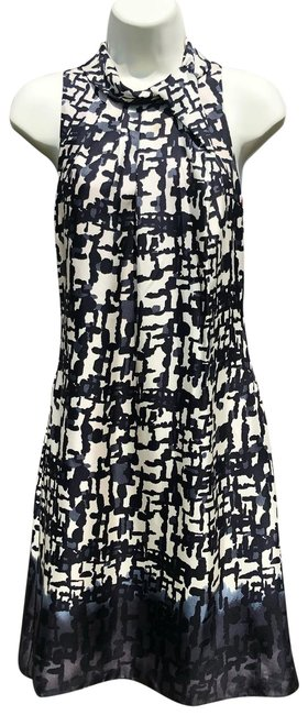 Item - Black White Ombre Mid-length Cocktail Dress Size 0 (XS)