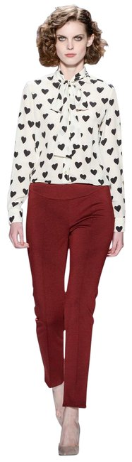 Tory Burch Red Cordovan Vanner Pant Straight Leg Jeans Size 10 (M, 31) Tory Burch Red Cordovan Vanner Pant Straight Leg Jeans Size 10 (M, 31) Image 1