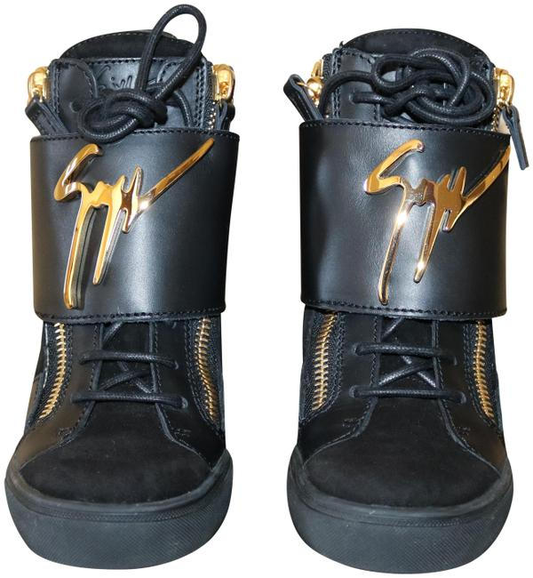 Item - Black/ Gold Lorenz 75 Tr Donna Camoscio In Nero. Rs5065 Sneakers Size US 7 Regular (M, B)