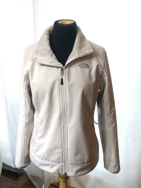 Item - Beige Apex Chromium Softshell Windproof Hiking Backpacking Casual Everyday Jacket Size 4 (S)