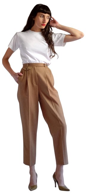 Item - Camel Brown High Rise Worsted Wool Pants Size 16 (XL, Plus 0x)