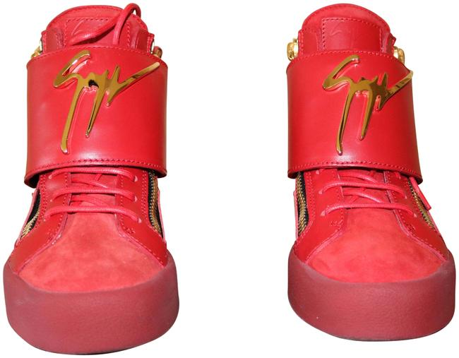 Item - Red/ Gold May Lond. Tr Donna Camoscio In Fiamma Rs5065 Sneakers Size US 6.5 Regular (M, B)