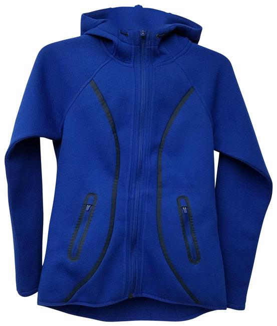 Item - Blue Scuba Full Zip Hoodie 242921 Admiral X-small Activewear Outerwear Size 2 (XS)