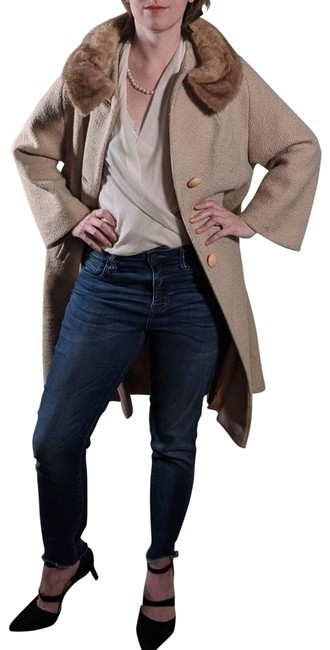 Item - Tan Wool Real Collar Union Made Coat Size 6 (S)