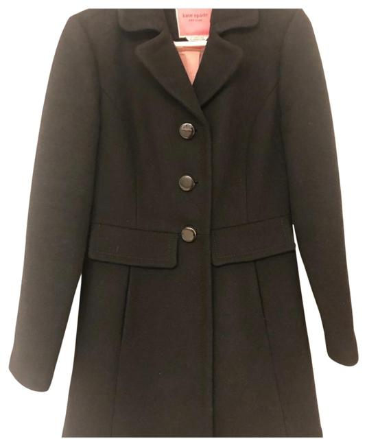 Item - Black New York Faux-fur Trim Coat Size 2 (XS)