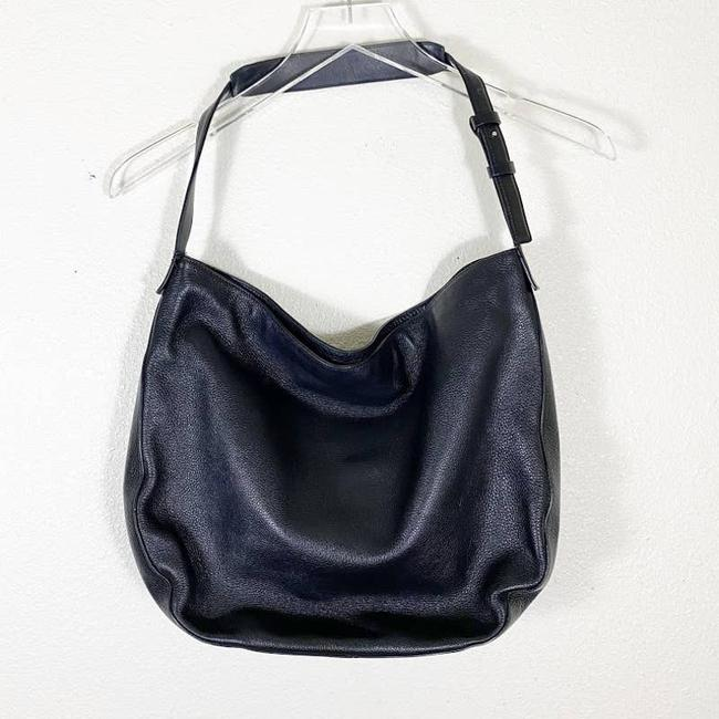Item - Leather Purse Black Cowhide-leather Hobo Bag