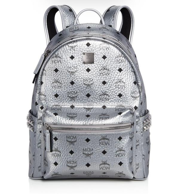 Item - Stark Metallic Studded Berlin Silver Canvas Backpack